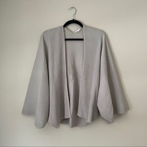 COS open front ribbed cardi